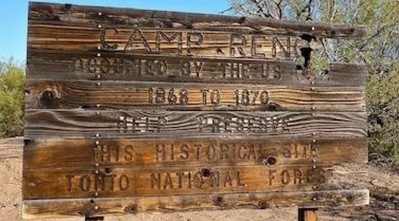 Historic Army outpost in the Tonto Basin, Camp Reno ruins. Feb. 2014 (Source: Eric Zotcavage)