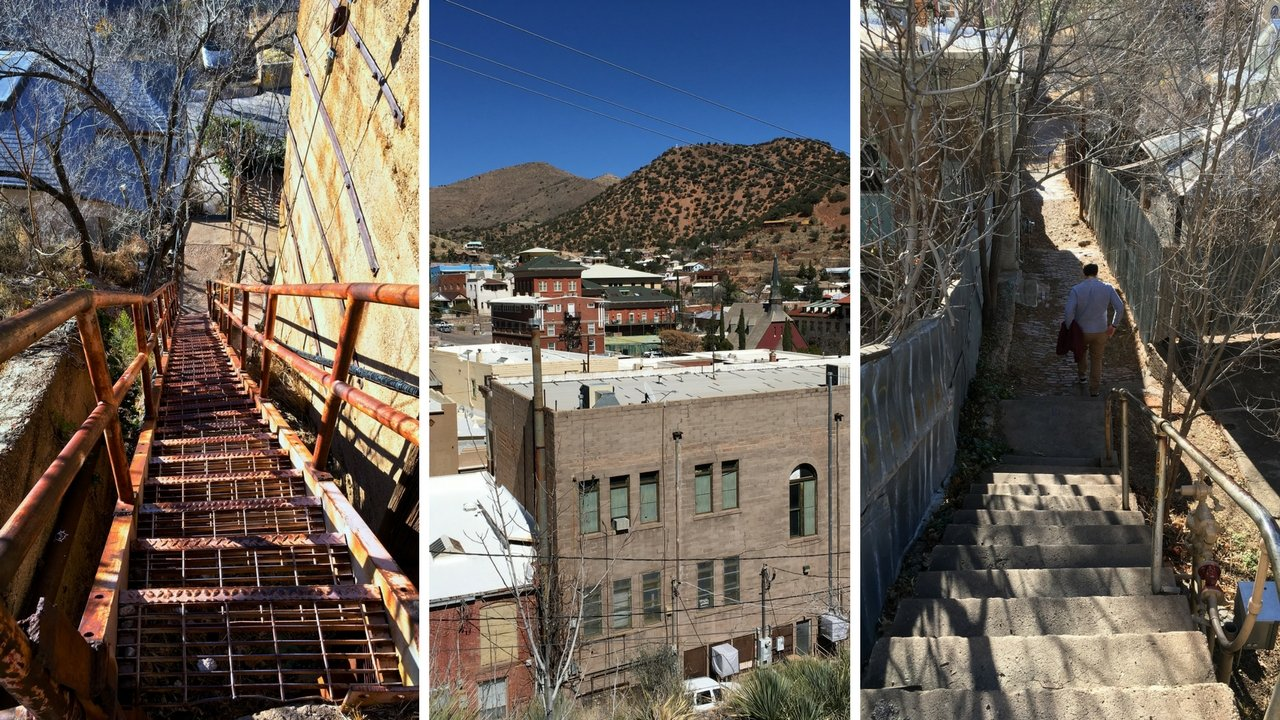 Bisbee is situated on a hillside. Walking the city can be a workout!