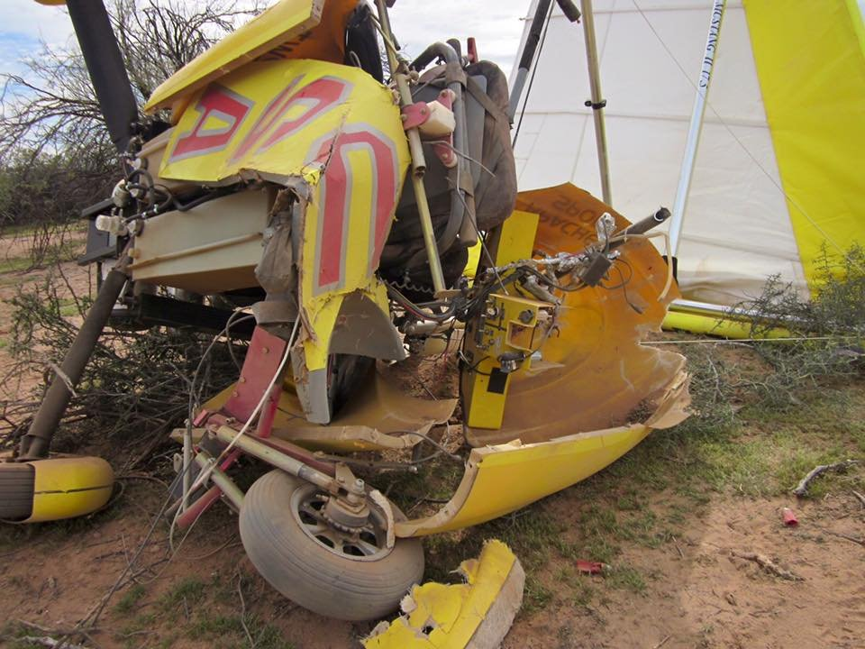 Motorized glider crashes in Pinal County (Photo source: PCSO)
