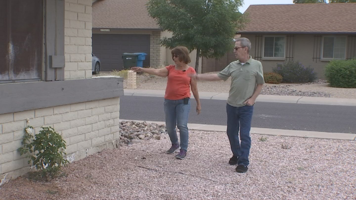 Terri and Bob Gehrke said they hired Jerry Crocker of Just Jerry to power wash and paint their home. They said he completed the power wash, albeit poorly, but never returned to do the painting. (Source: 3TV)