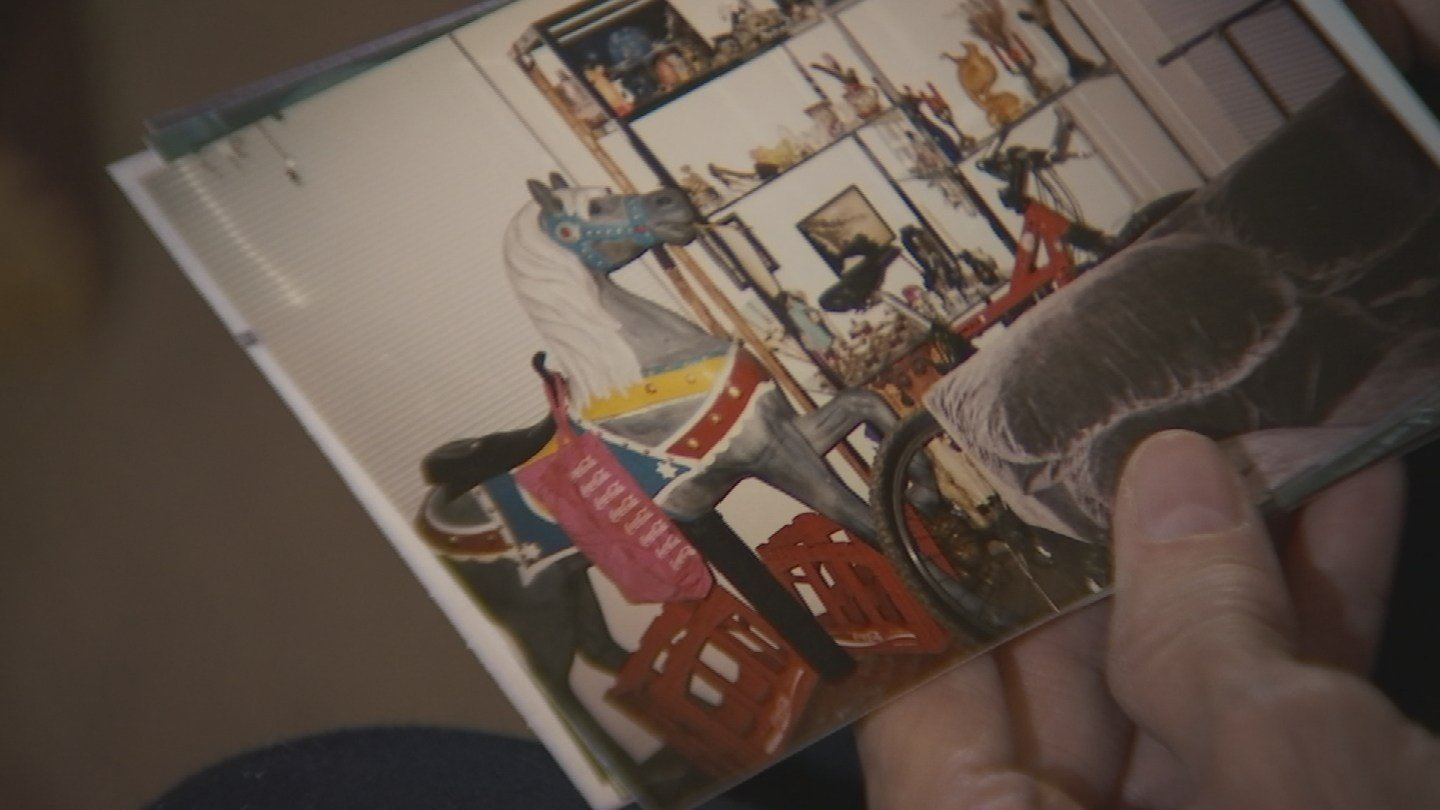 Jackie Caradine showed up pictures of some of the item she handed over the the auction house. She believes they were worth at least $50,000. (Source: 3TV)
