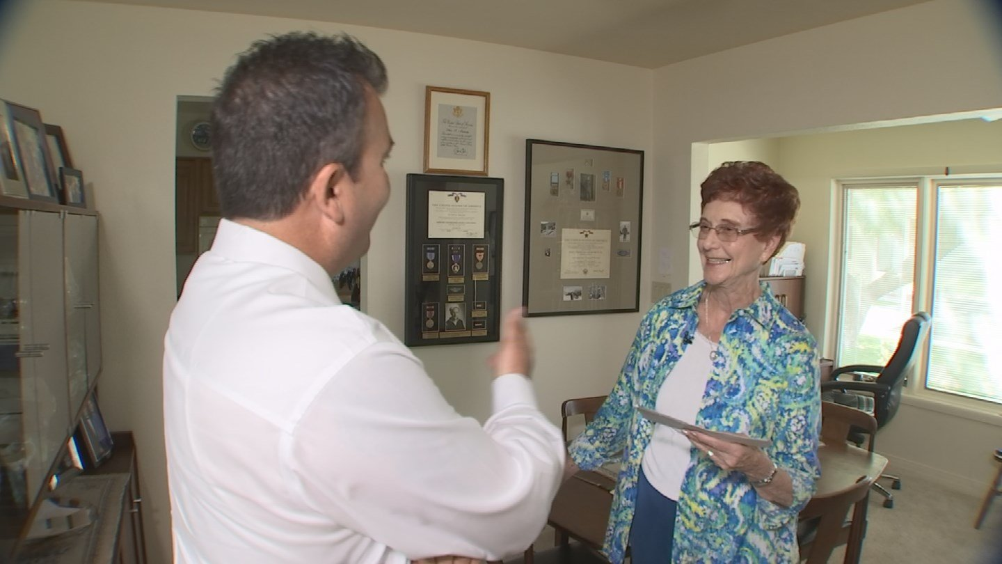 After fighting for nearly three years, Marilyn Munkachy finally received a check for her husband's life insurance policy. (Source: 3TV)