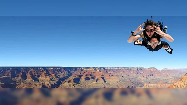 Right now, Paragon is the only company to receive approval to skydive at the canyon. (Source: Paragon Skydive)