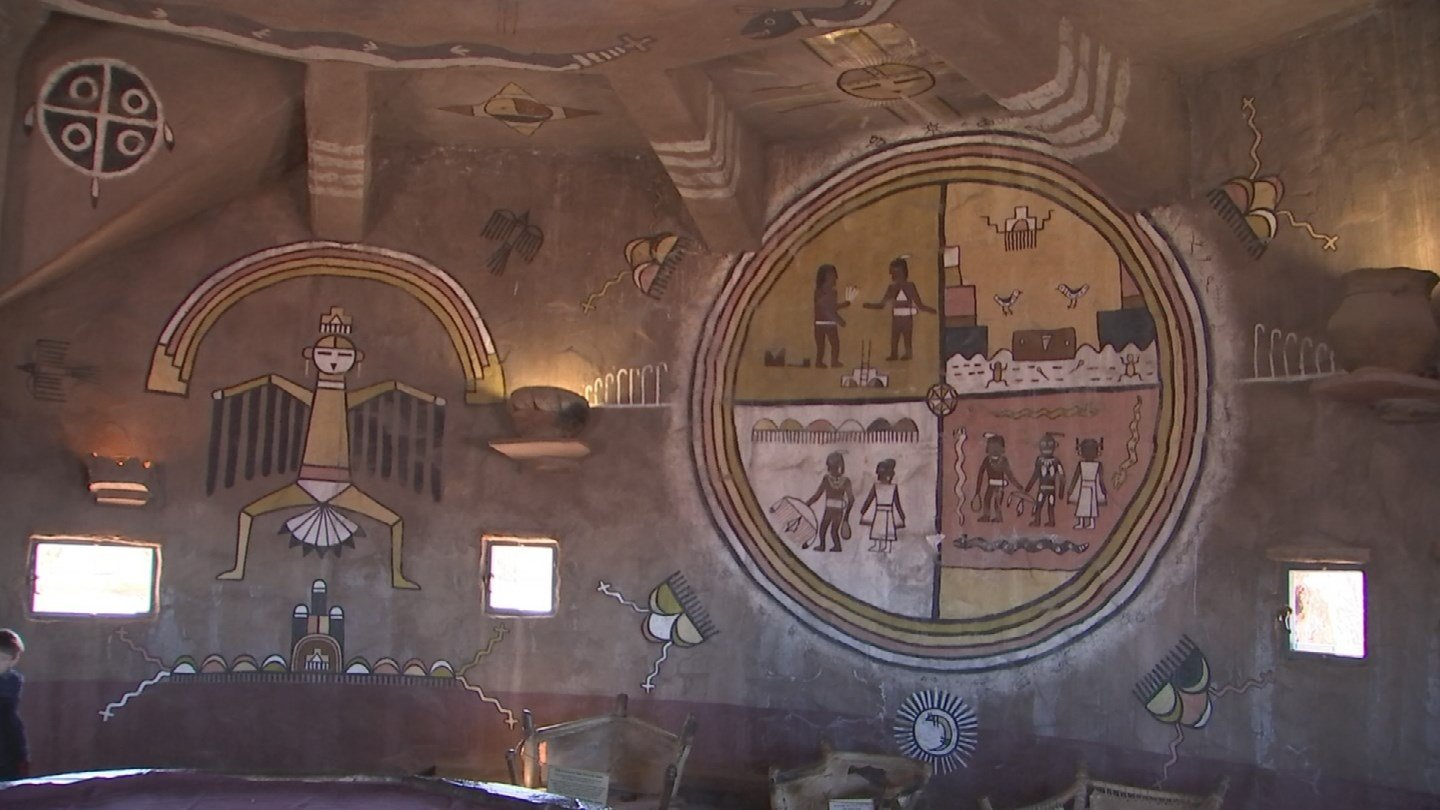 Art covers the inside of the tower. (KTVK)
