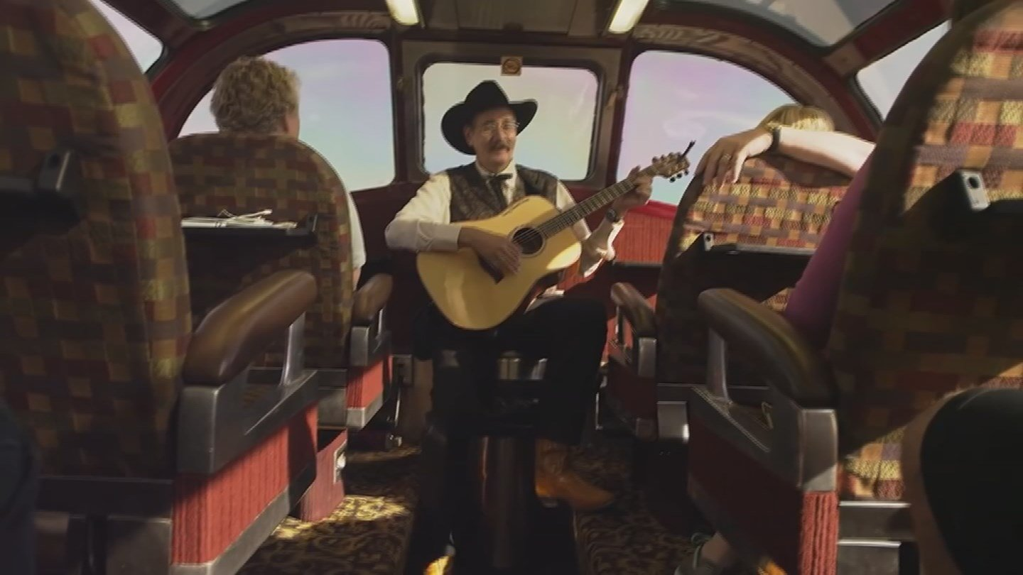 Entertainers perform throughout the journey (KTVK)