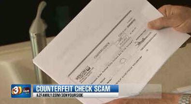 Glendale man thought he was OK when he got a cashier's check but got scammed (Source: KTVK)