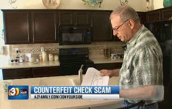 Phil Kaplan was in the middle of a scam while trying to sell household items (Source: KTVK)