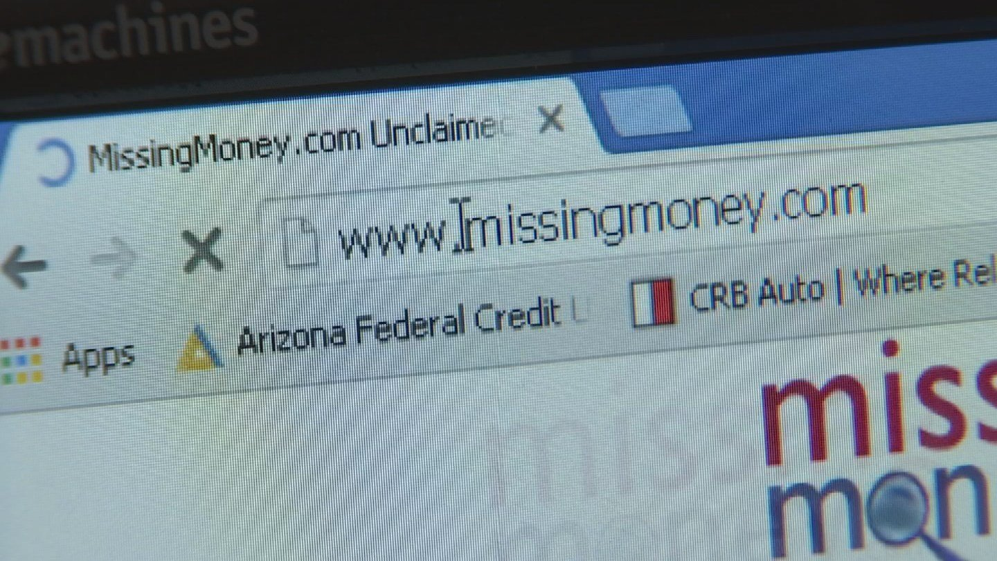 MissingMoney.org is the only official website authorized to work with states to get your money back free of charge.(Source: 3TV)