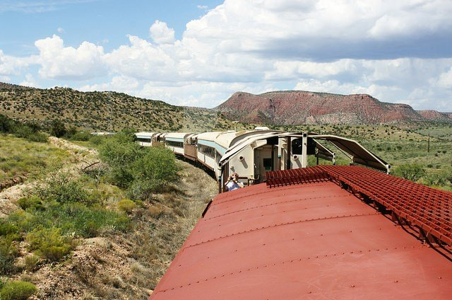 Looking out caboose cupola window (Source: Verde Canyon Railroad via Flickr)