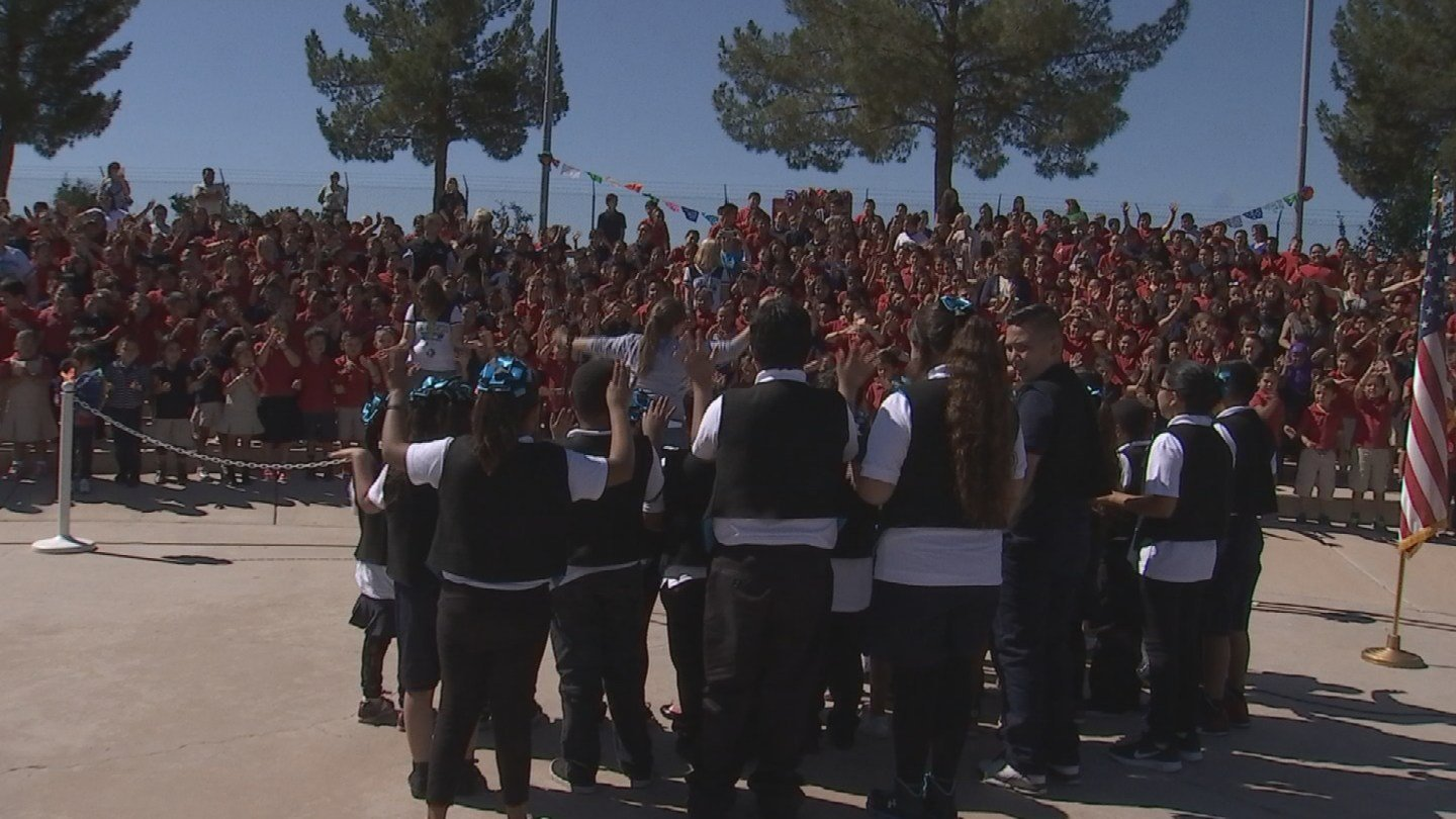 San Marcos Elementary School celebrates their status of being an A+ School of Excellence (Source: KPHO/KTVK)