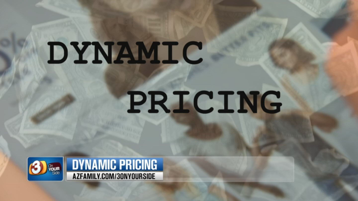 Dynamic pricing means the price of a product can go up or down in a split second depending on if you're the buyer or someone else is. (Source: 3TV)
