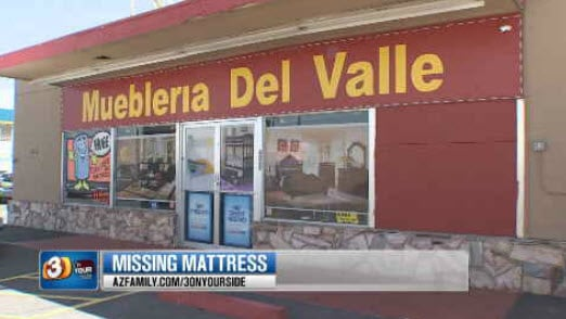 The mattress and couched were ordered from Muebleria Del Valle (Source: KPHO/KTVK)