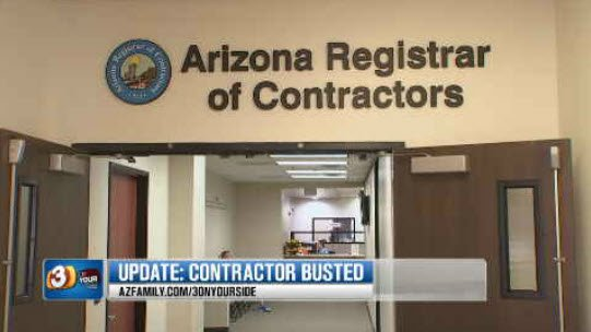 The Arizona Registrar of Contractors urge people to hire registered contractors (Source: KPHO/KTVK)