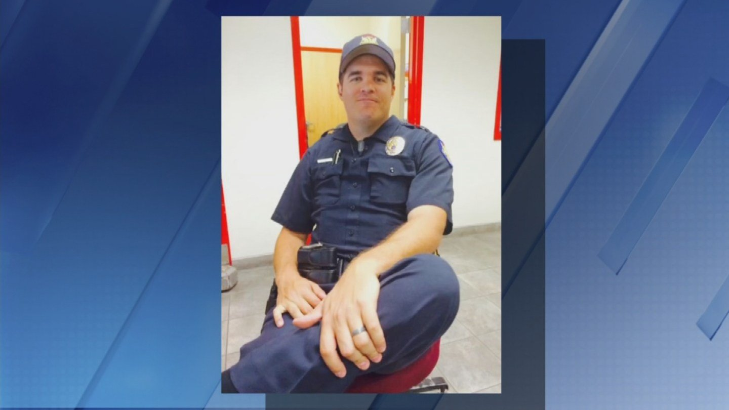 Picture taken of Ofc. Glasser before a 10-hour shift (Source: KTVK)