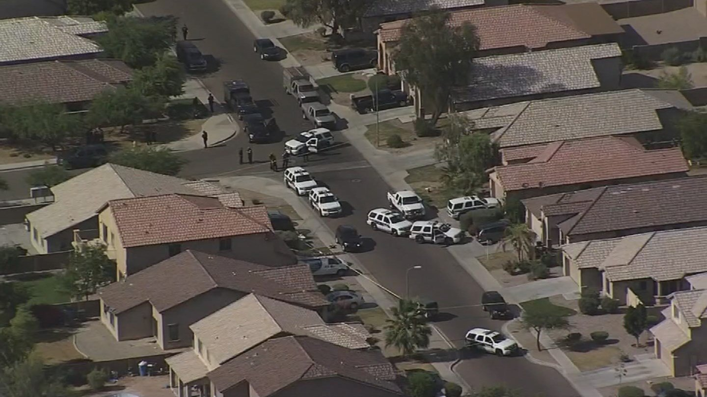 Dozens of officers converged on the scene. (Source 3TV)