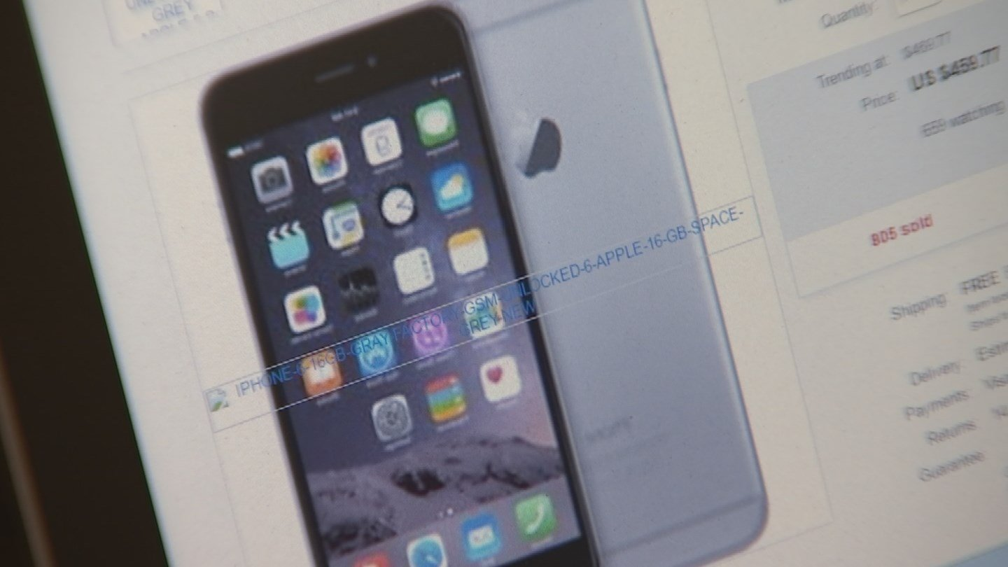 Karl Johanson turned to eBay to buy an iPhone 6 for his son't birthday. (Source: 3TV)