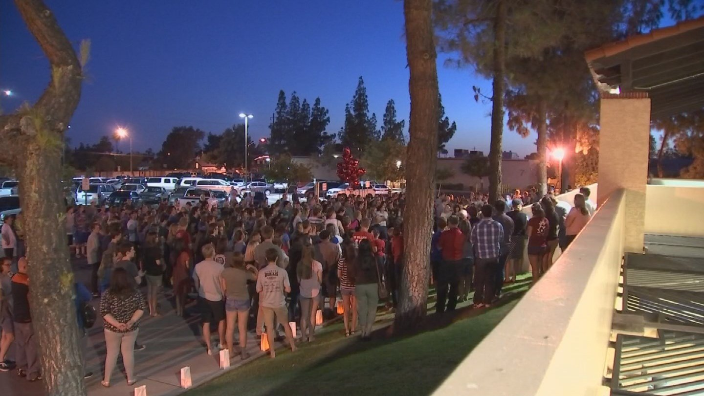 A community in Mesa remembered a teacher who died after being hit by a car (Source: KPHO/KTVK)