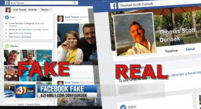 A scammer made a fake Facebook account from a real dentist's account. (Source: KPHO/KTVK)