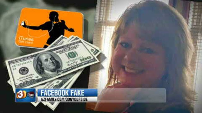 A woman ended up giving a scammer $100 in iTunes gift cards to him. (Source: KPHO/KTVK)