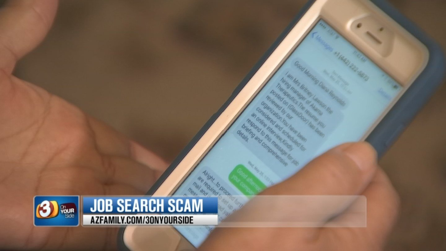 Reynolds says the scammer contacted her through text message instead of  from a phone call. (Source: KTVK)