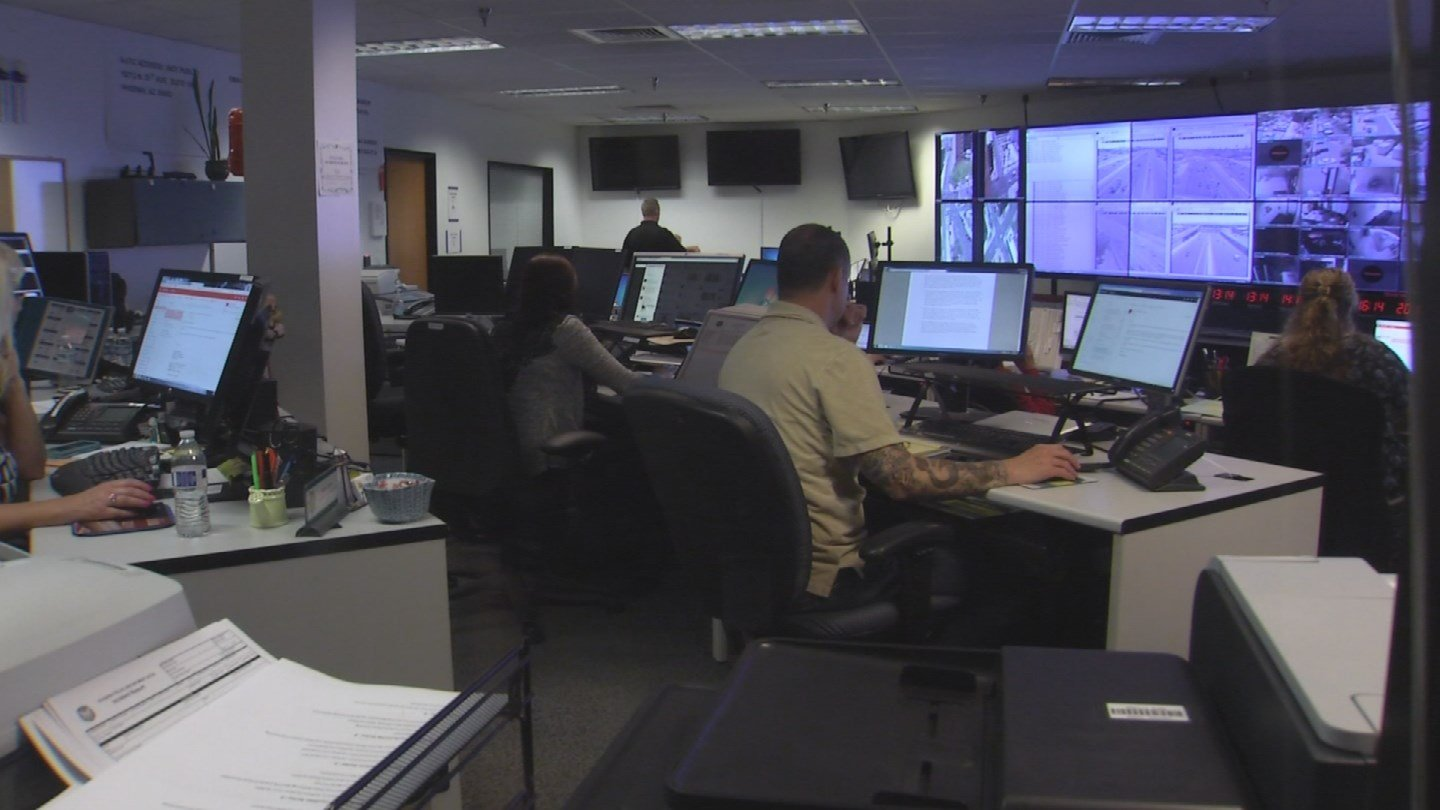The ACTIC watch center is a room full of screens, computers, video feeds and live camera views, all of which are monitored 24/7 by the Arizona Department of Public Safety along with the FBI and other Valley agencies. (Source: KPHO/KTVK)