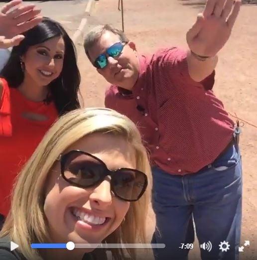 Your 3TV weather team -- April Warnecke, Kim Quintero and Royal Norman. (Source: April Warnecke via Facebook Live)