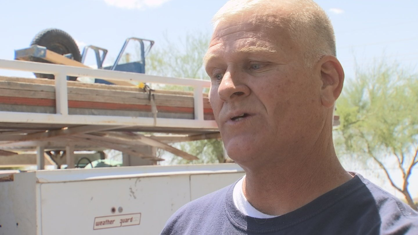John Heywood fixed the driveway after another professional fixed the irrigation line. (Source: KTVK)