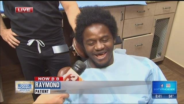 Raymond's new smile (Source: KPHO/KTVK)
