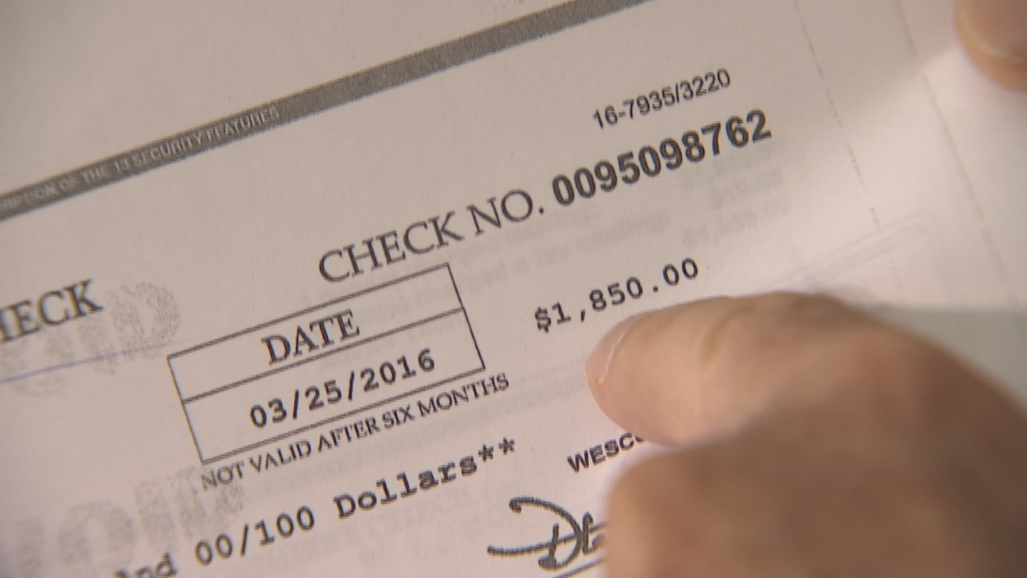 Sending a check for a large amount over your asking price is a common tactic used by scammers and they always have a story to go along with the large check. (Source: 3TV)