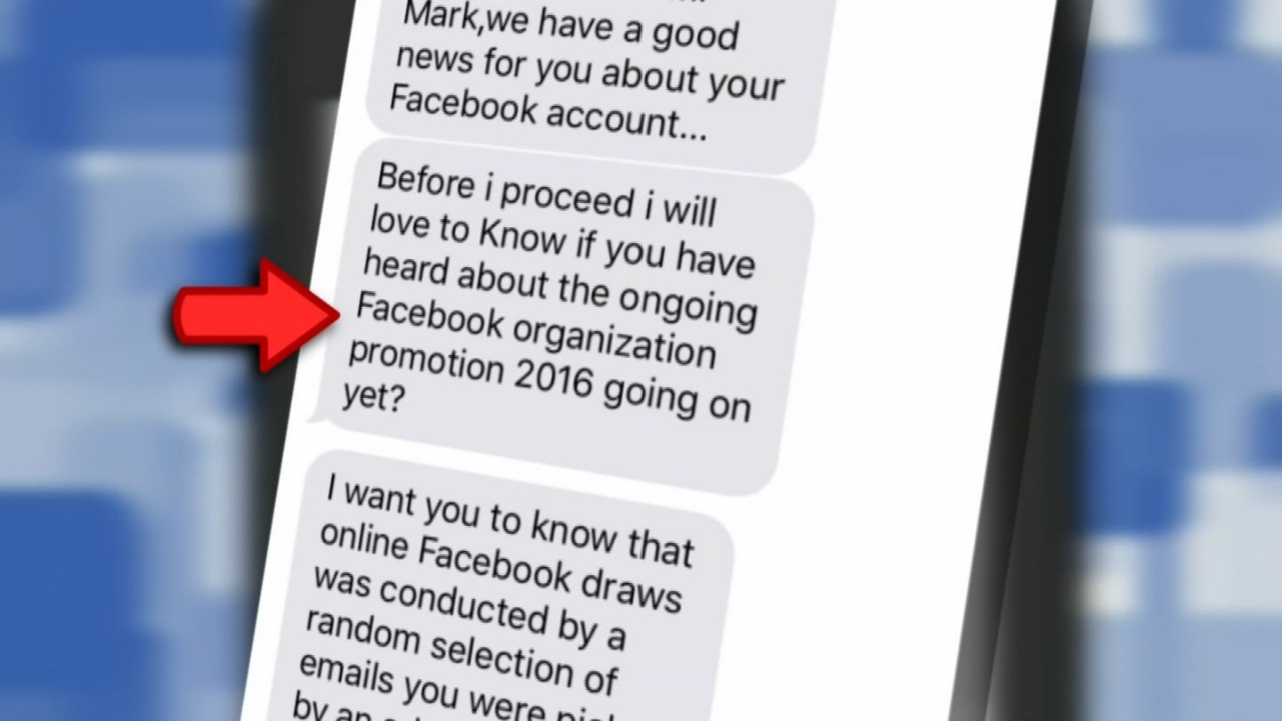 If you're contacted out of the clear blue saying you've won a lottery, it's a scam. (Source: 3TV)