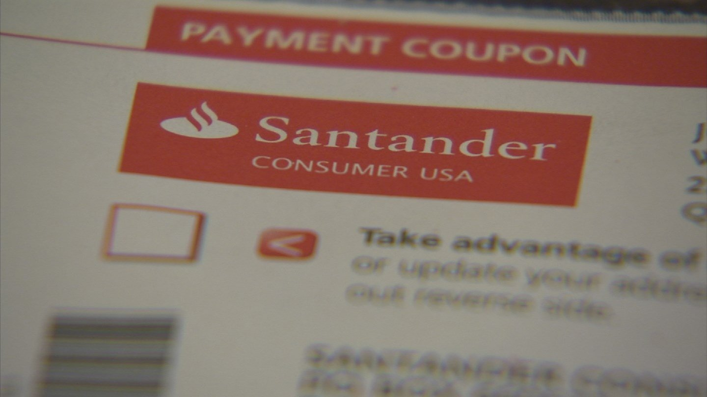 An organization called the Semper Fi Fund sent a check for $677.84 directly to the couple's finance company, Santander Consumer USA. (Source: 3TV)