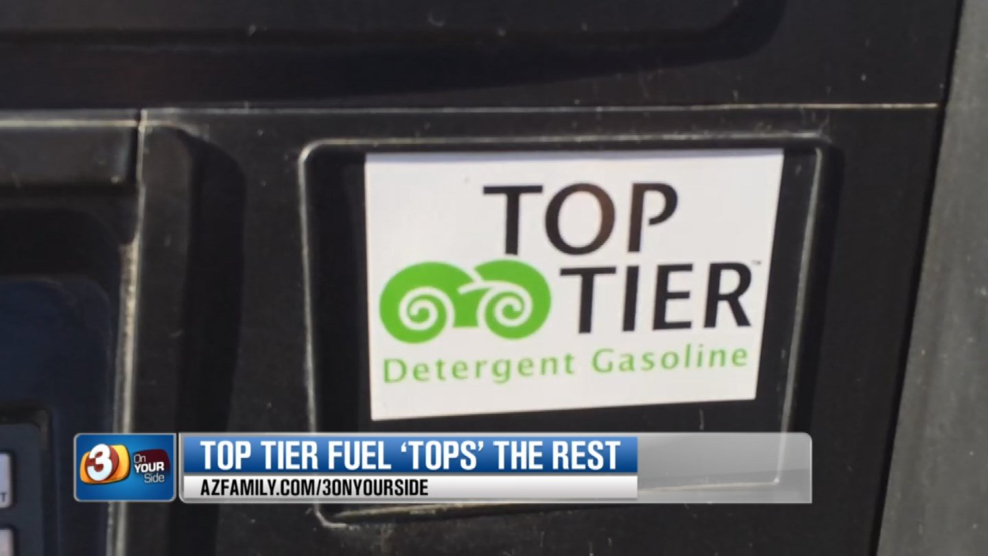 Some gas stations like Valero mark their pumps with a Top Tier logo so you know what kind of fuel you're getting.  Other stations use Top Tier fuel, as well, but they use their own names. (Source: 3TV)