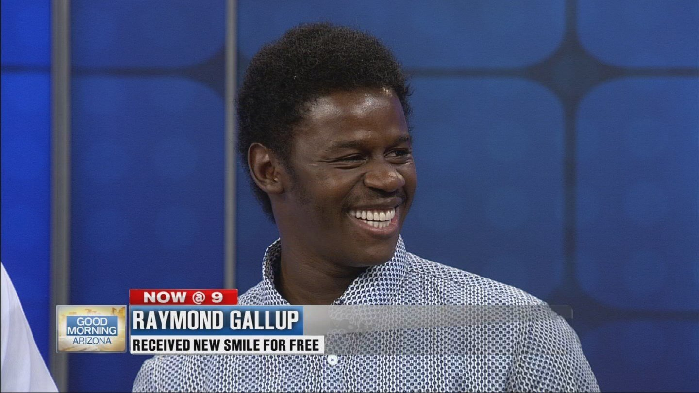 Gallup can't stop smiling! (Source: 3TV)