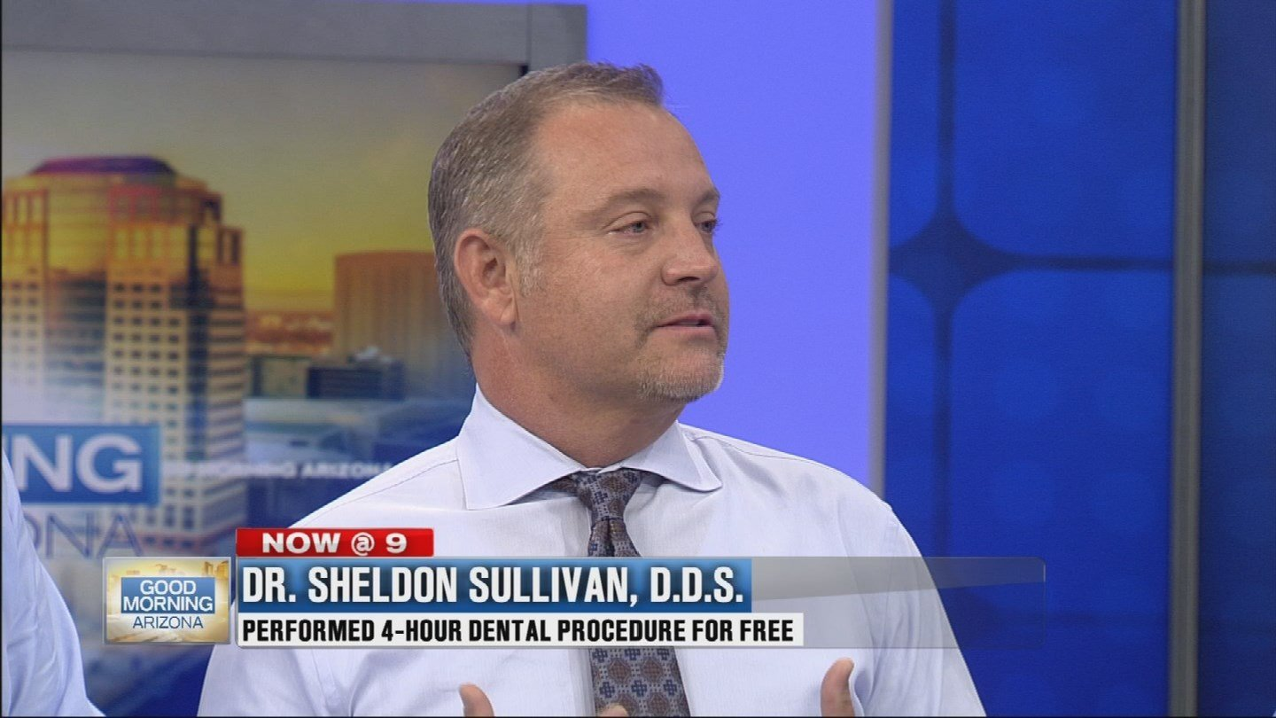 """""""It's just amazing to me how the smile has such a connection to how we feel about ourselves and how we present to the world,"""" Sullivan said. (Source: 3TV)"""