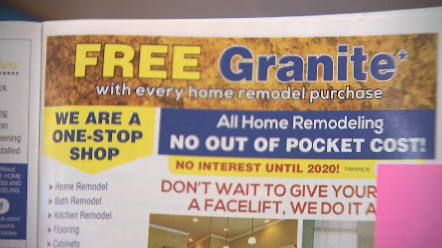 """They all say they hired was a place called Home Lift Now, which, accordingto its advertisement, claims to be a """"one-stop shop"""" for home projects. (Source: 3TV)"""