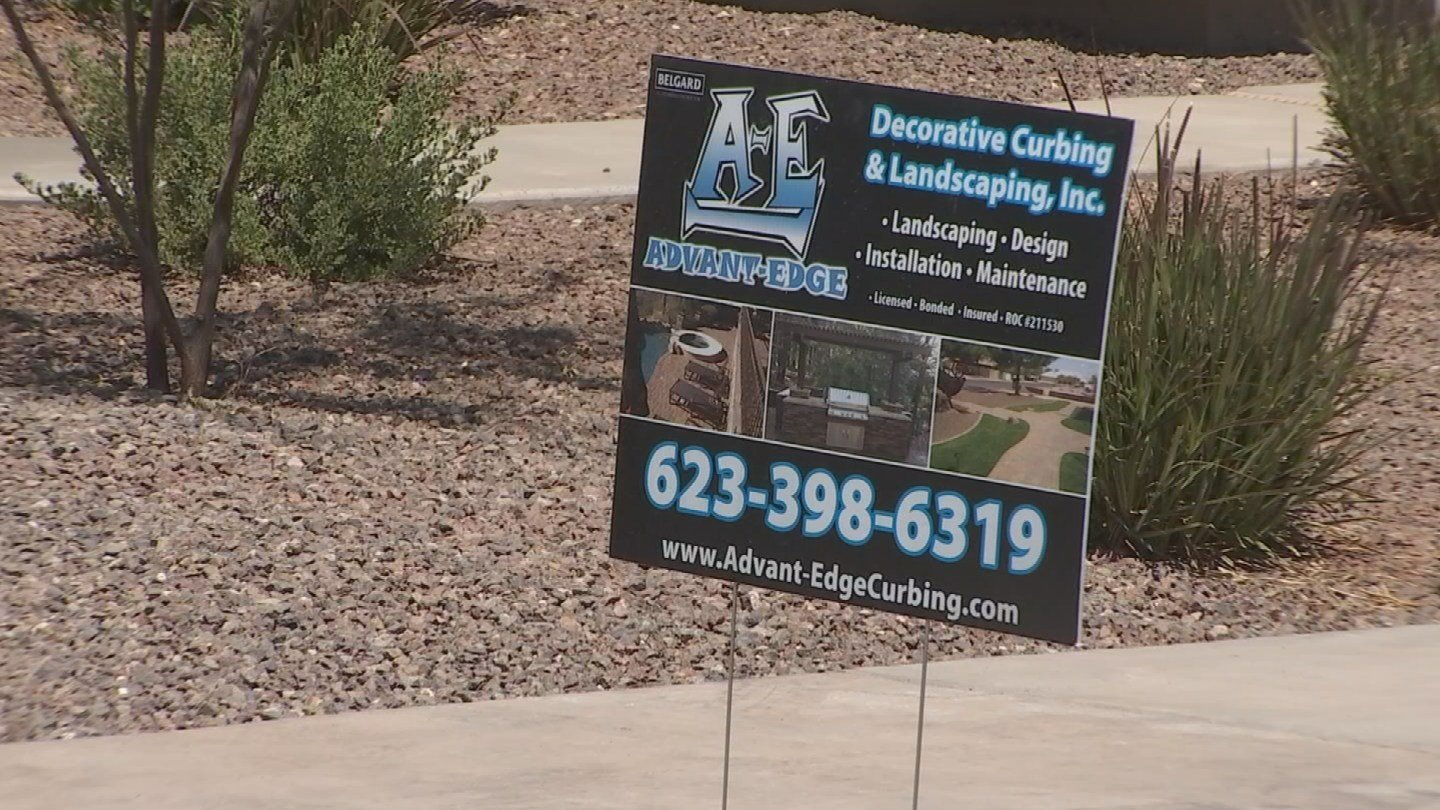 With supplies donated by other Valley companies, Advant-Edge Decorative Curbing and Landscaping created an amazing yard for the Roes. (Source: 3TV)