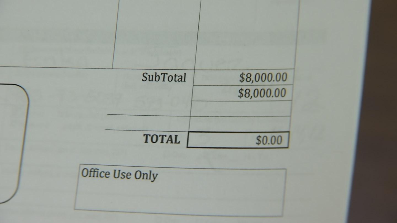 Erika Jaquez handed over $8,000. (Source: 3TV)