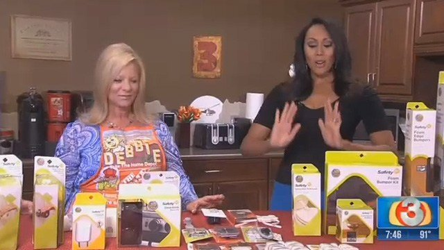 Debbie Hernandez with Home Depot shows us products to childproof your home. (Source: KTVK)