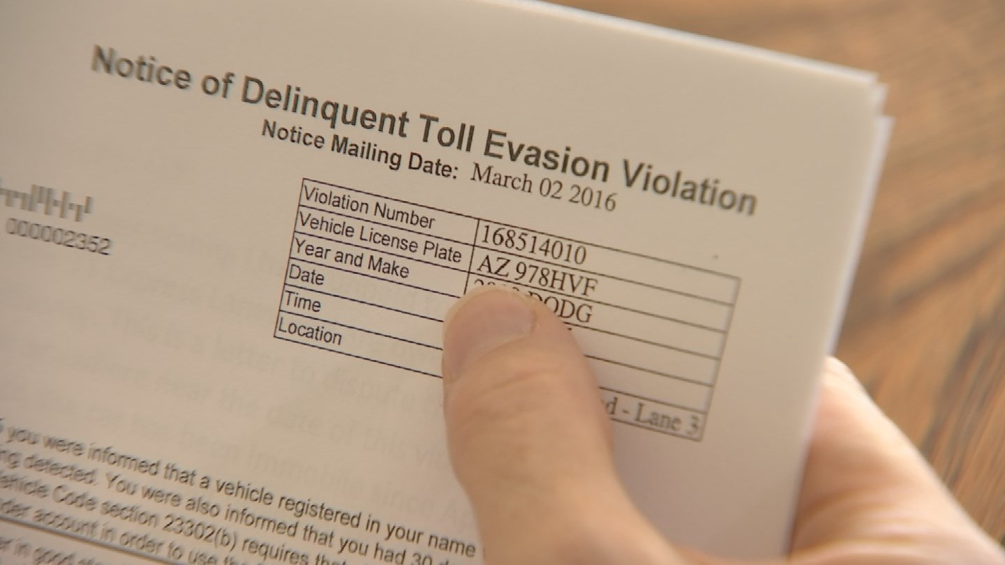 A buckeye woman said she got a notice about a toll bill that wasn't hers. (Source: KPHO/KTVK)