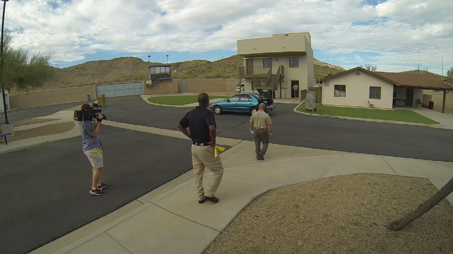 Nicole Crites participated in the training to see what it was like. (Source: KTVK)