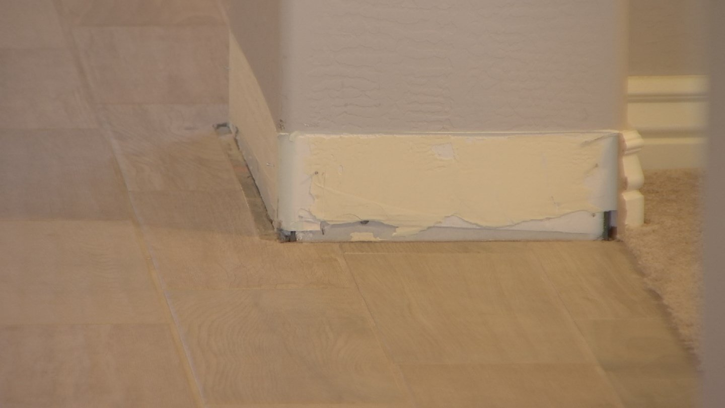 The baseboards had to be removed due to the water damage. (Source: 3TV)