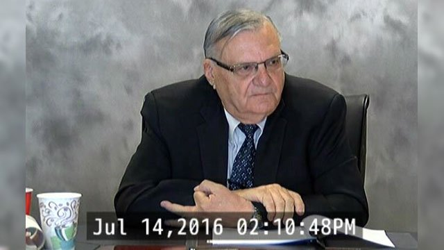 Several minutes of the nearly five-hour deposition of Maricopa County Sheriff Joe Arpaio in July were spent discussing his investigation of President Barack Obama. (Source: 3TV)
