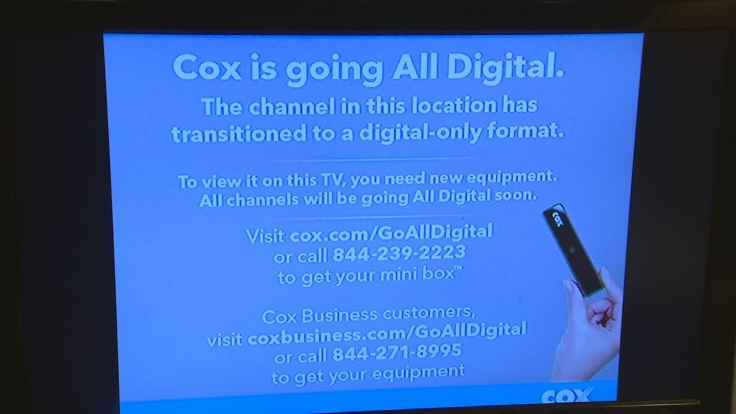 Cox cable is going all digital, which means you need a special box if you're going to watch cable channels on your television. (Source: 3TV)