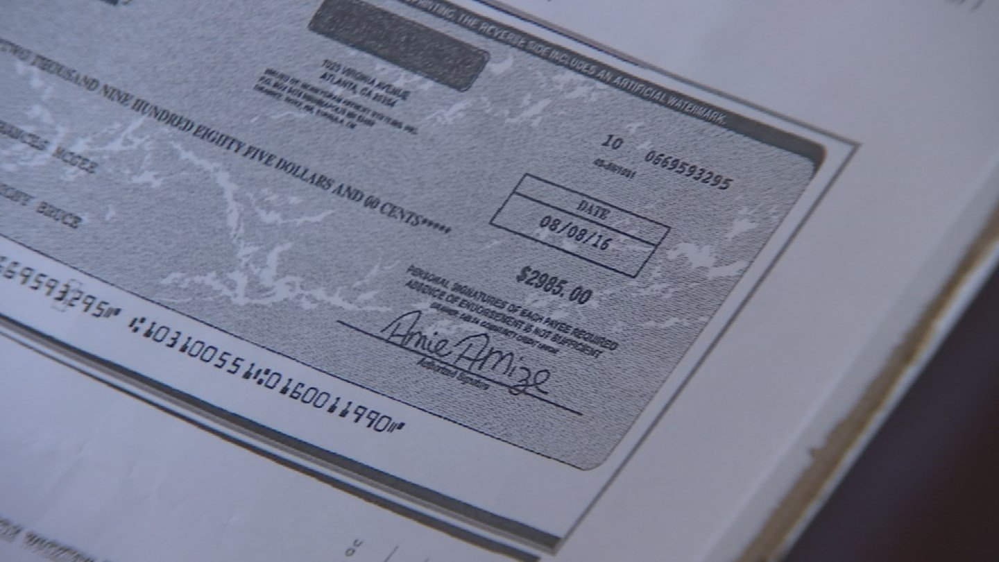 When a company sends you a check and asks you to deposit it in your account and then wire money elsewhere, it's a good bet the check is fake and you're about to fall victim to a scam. (Source: 3TV)