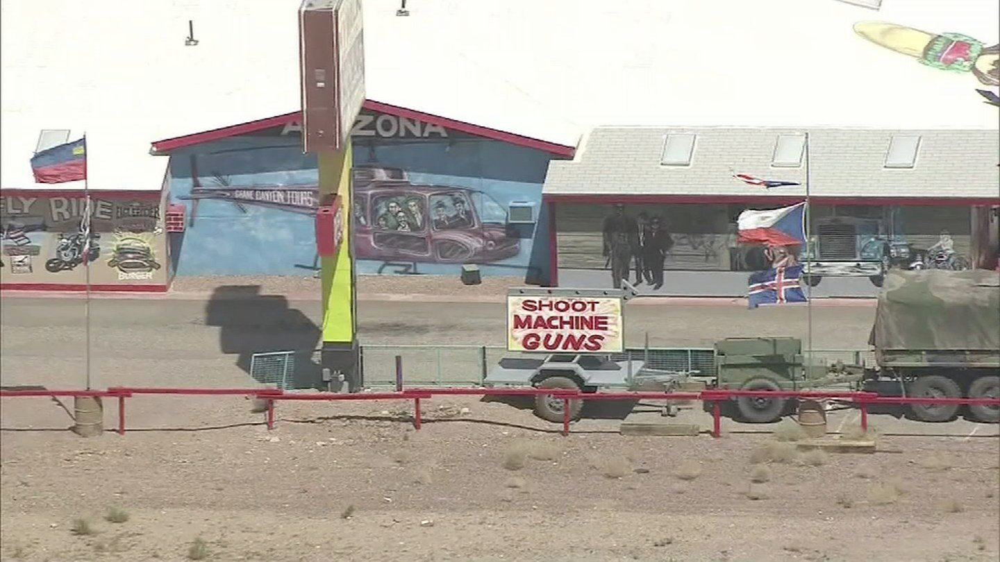 Bullets and Burgers is a roadside attraction between Kingman and Las Vegas, and it sees a lot of tourists. (Source: 3TV)