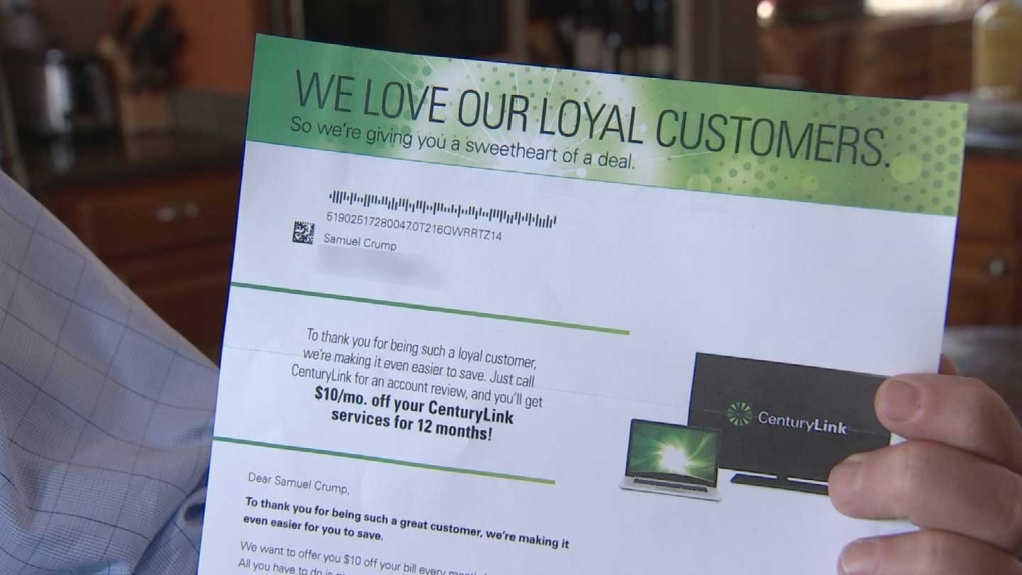 Who doesn't like to save money? An offer from Century Link promised to take off $10 a month for one viewer but he says he had a problem getting the discount. (Source: 3TV)