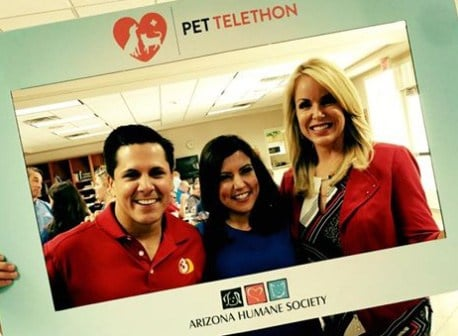 Join Javier, Olivia and Heather for the AZ Humane Society Pet Telethon. (Source: KTVK)