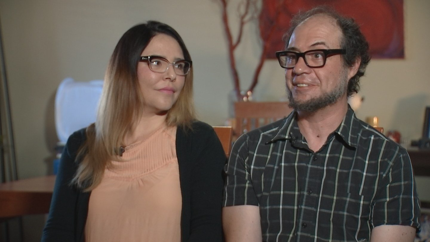Desiree and Orin Portnoy Portnoys are frustrated over what was supposed to be a simple plumbing repair inside their Tempe home. (Source: 3TV)