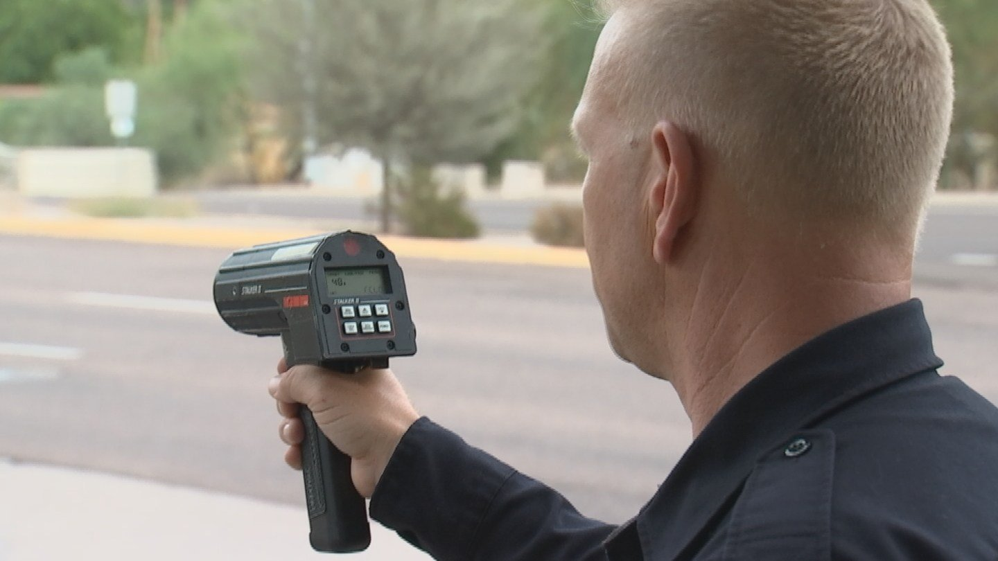 Sgt. John Howard checked speeds and some drivers were going 55 or 60 miles per hour. (Source: KPHO/KTVK)