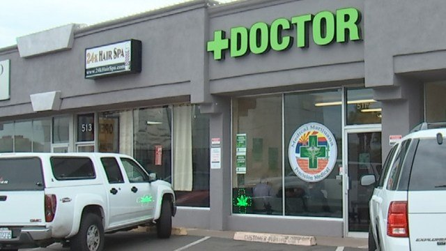The 511 E. Camelback Road location happens to be the current storefront for The Marijuana Doctor. You can see a doctor and get a medical marijuana card there, but it is not a licensed dispensary. (Source: 3TV)